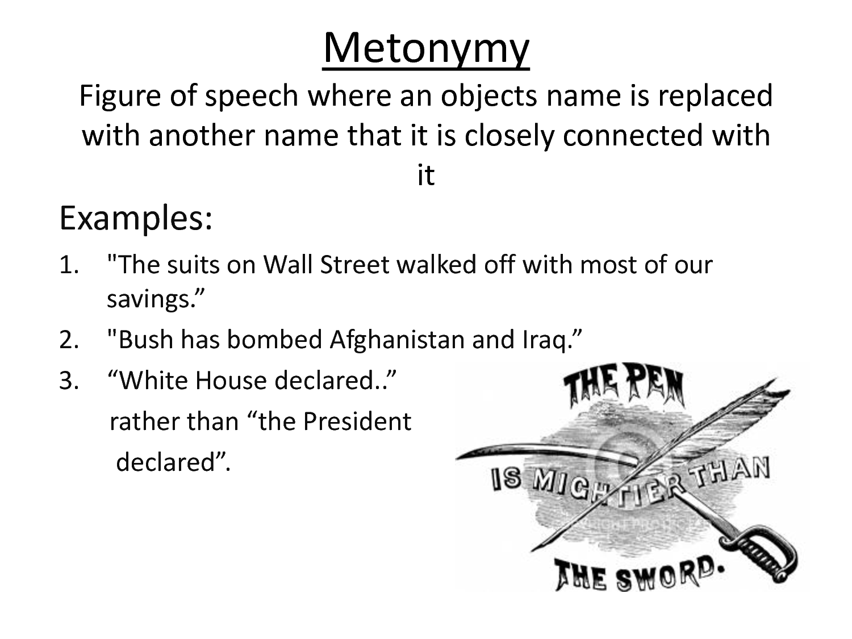 Metonymy Poems