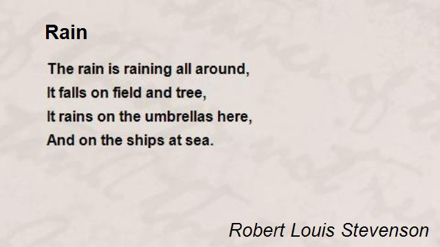 Poems Imagery Rain