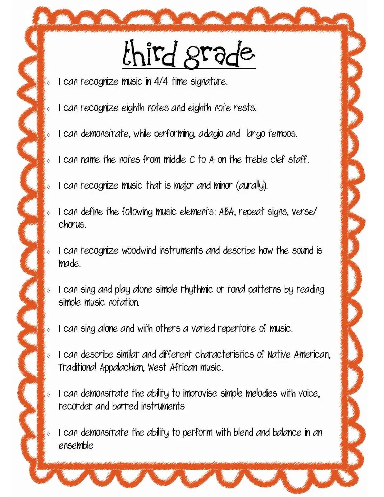 Third Grade Poems