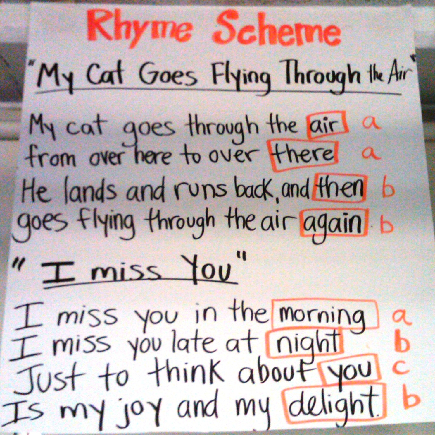 What Is Rhyme Scheme In Poetry Example What Is A Rhyme