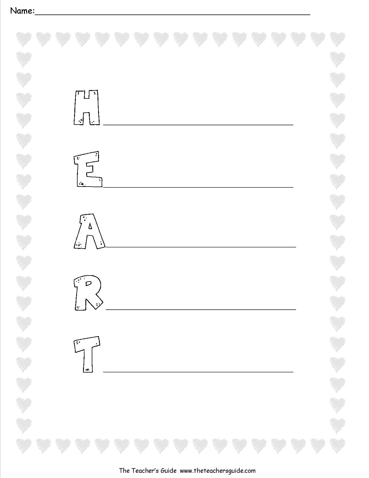 Valentine Acrostic Poems