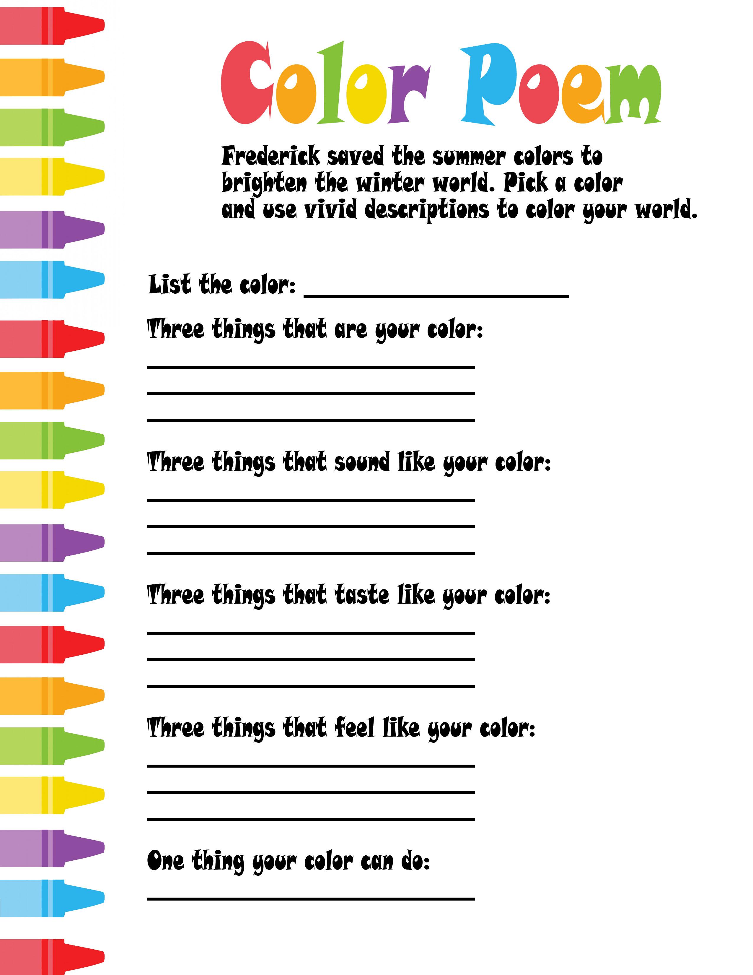Colour Poems