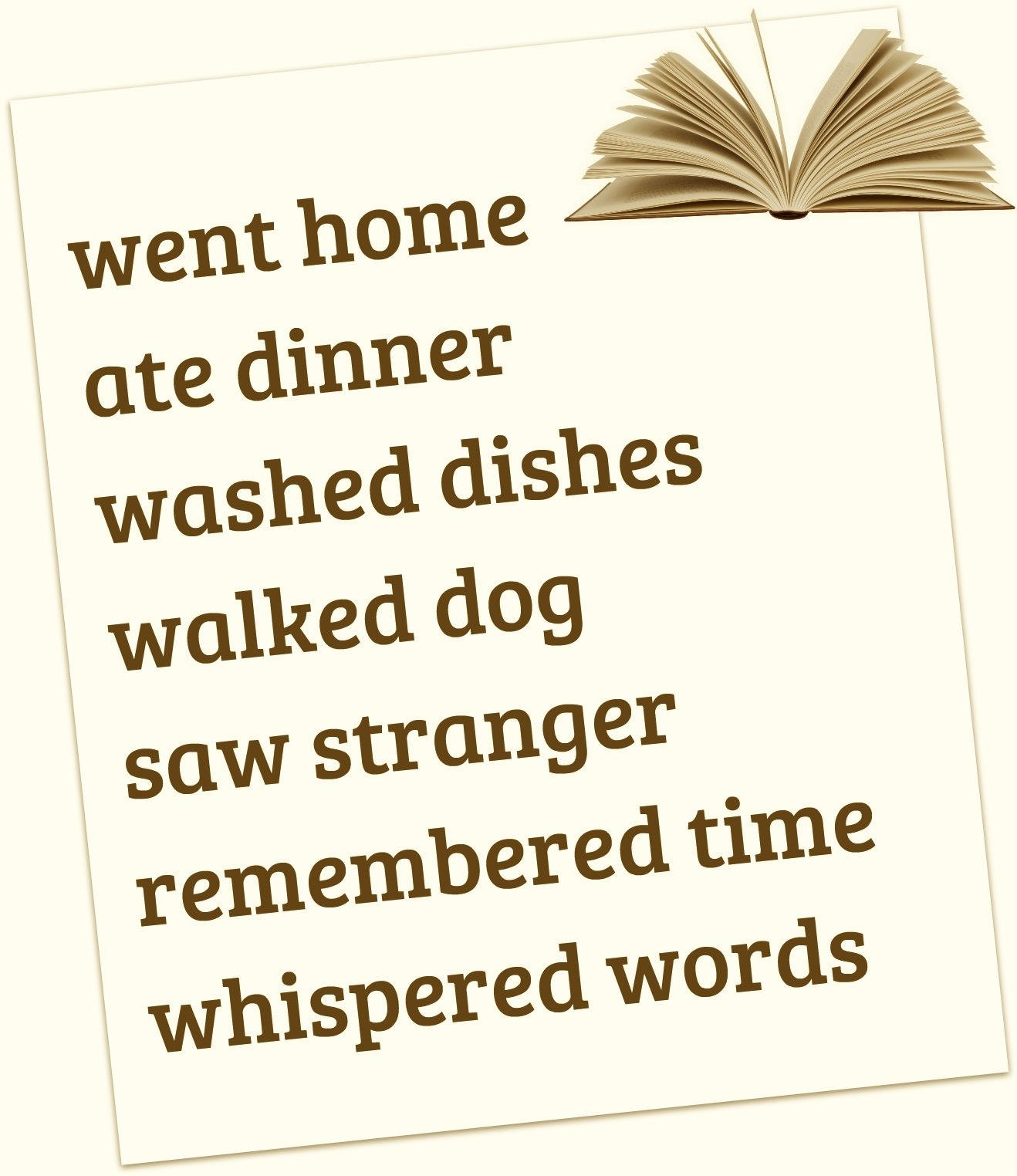 Verb Poems Poems