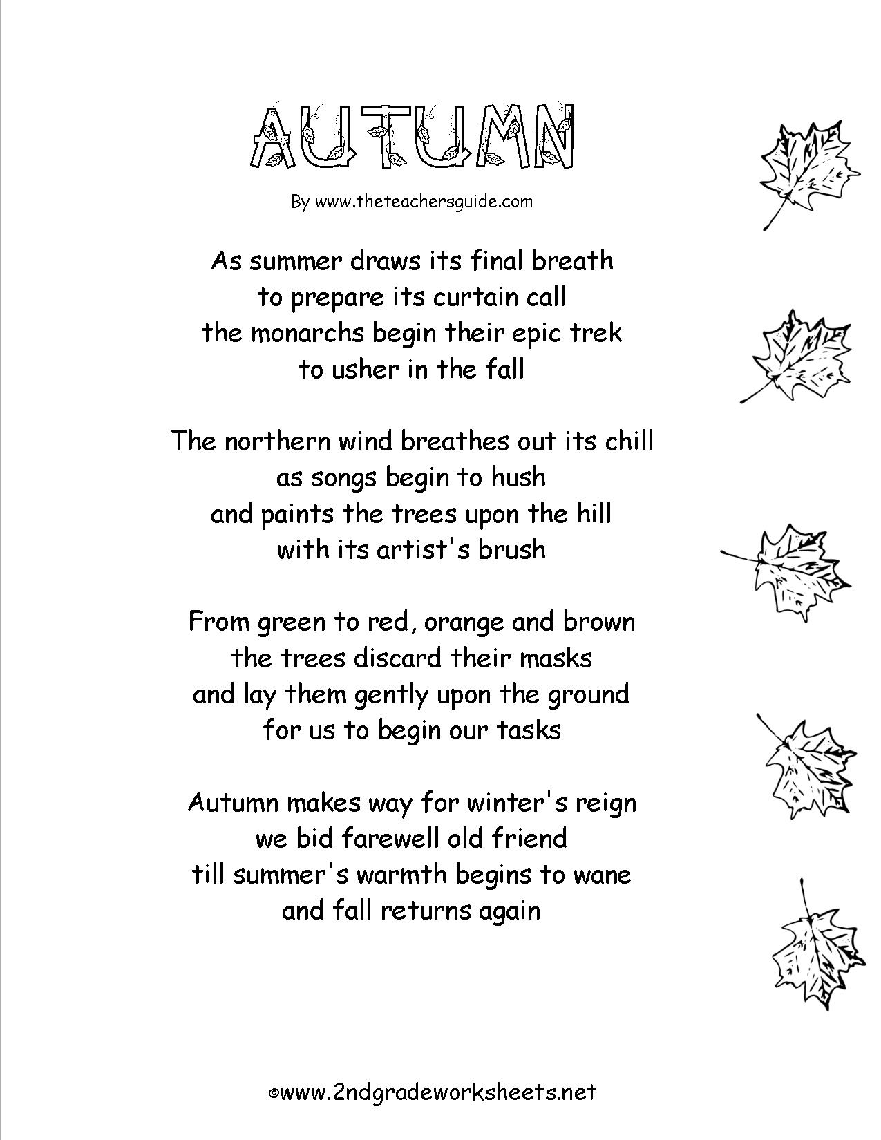 Grade 4 Poems