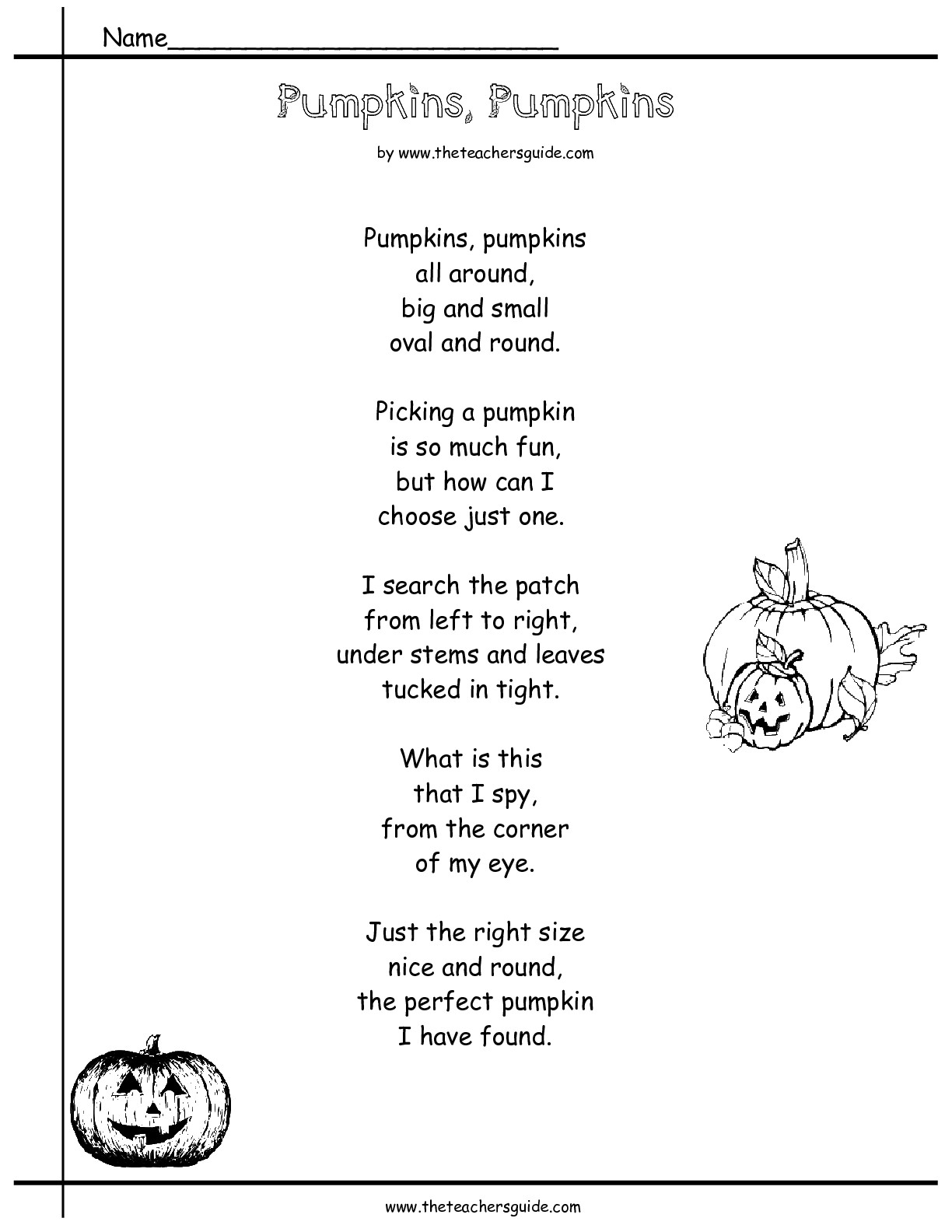 Comprehension Poems