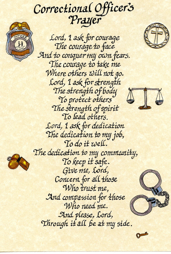 Correctional Officer Poems