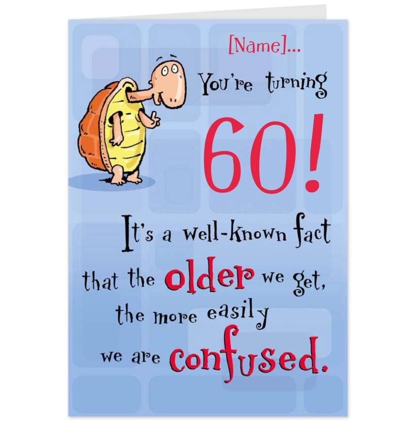 Awesome Funny 60th Birthday Cards Free Lenq Me