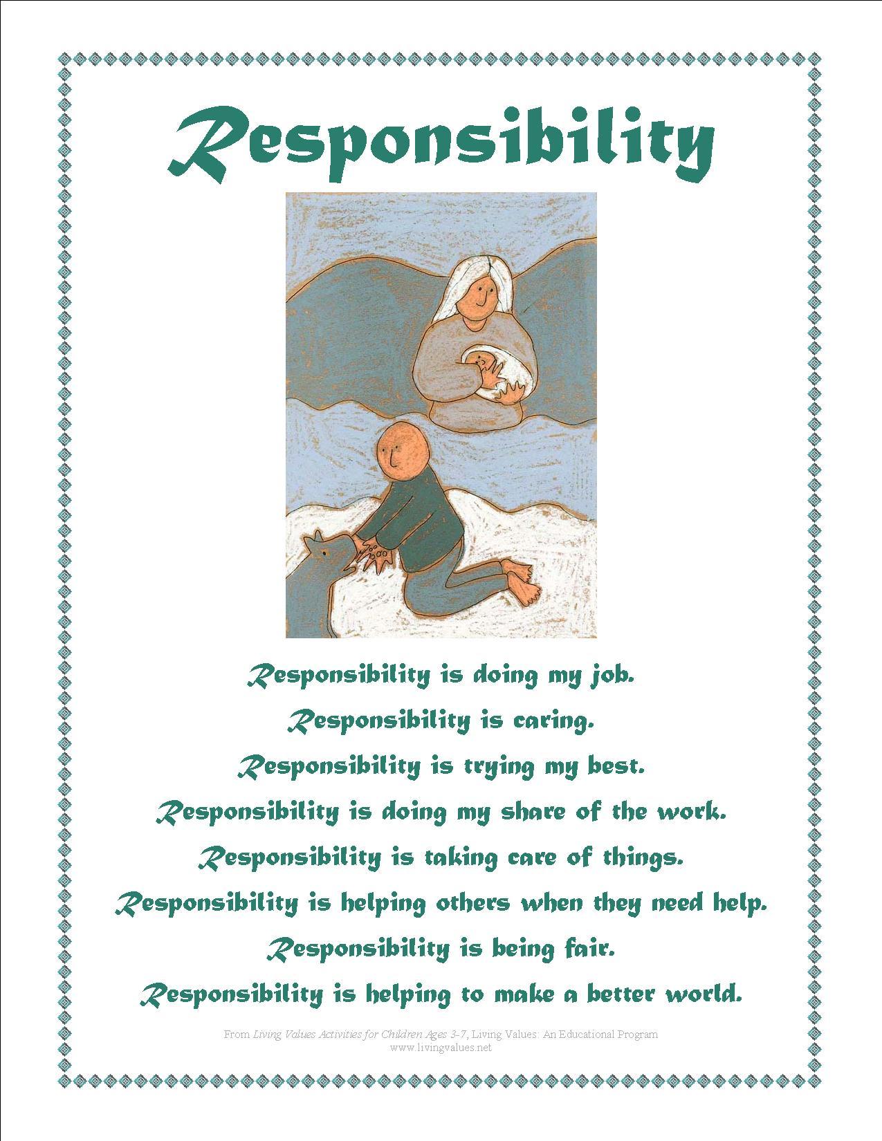 Responsibility Poems
