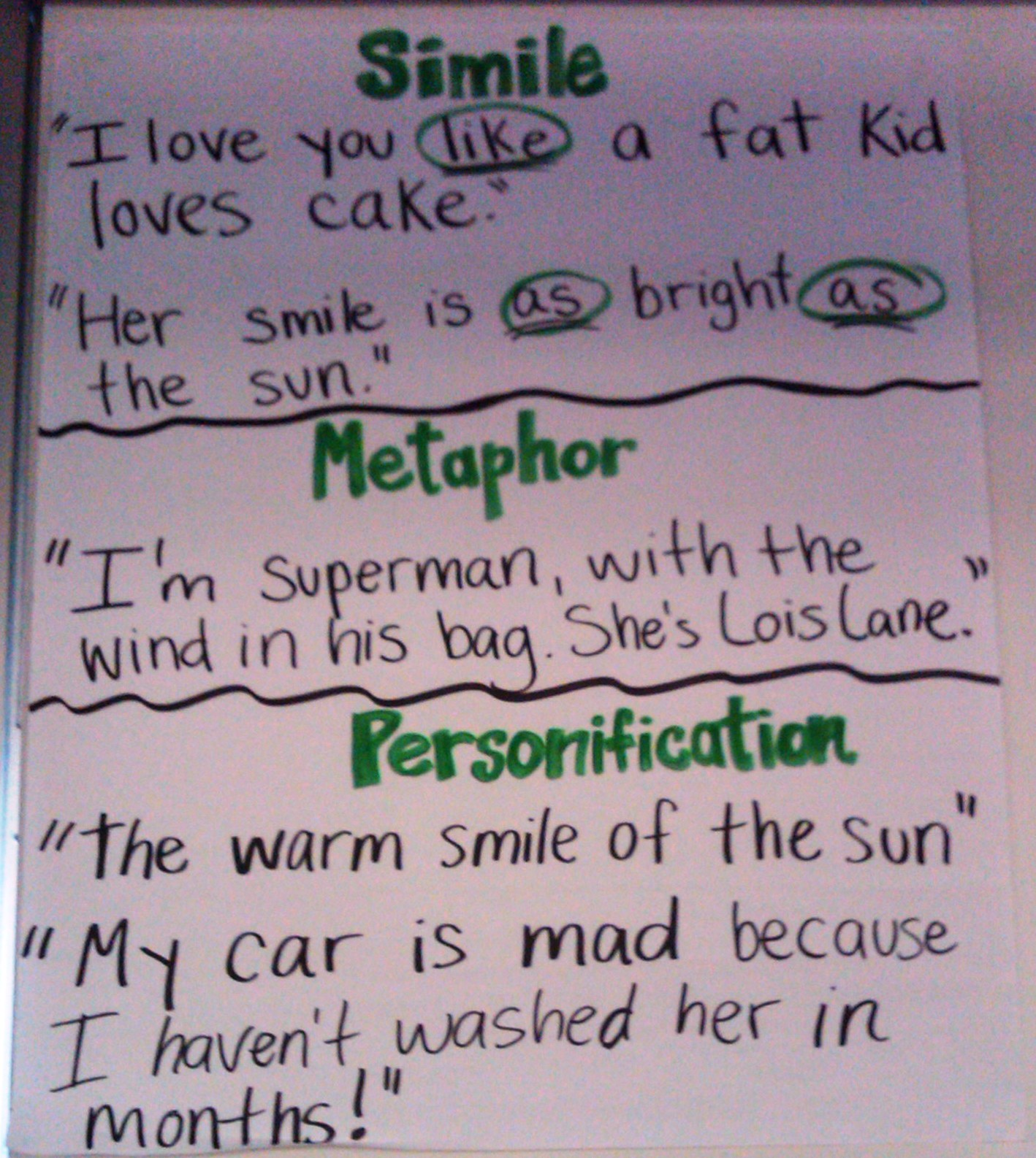 Simile And Metaphor Poems