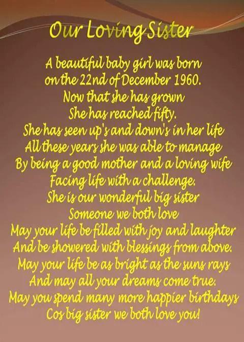 little sister birthday poems
