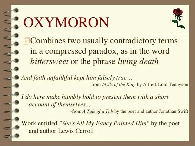Oxymoron Poems Examples Textpoems