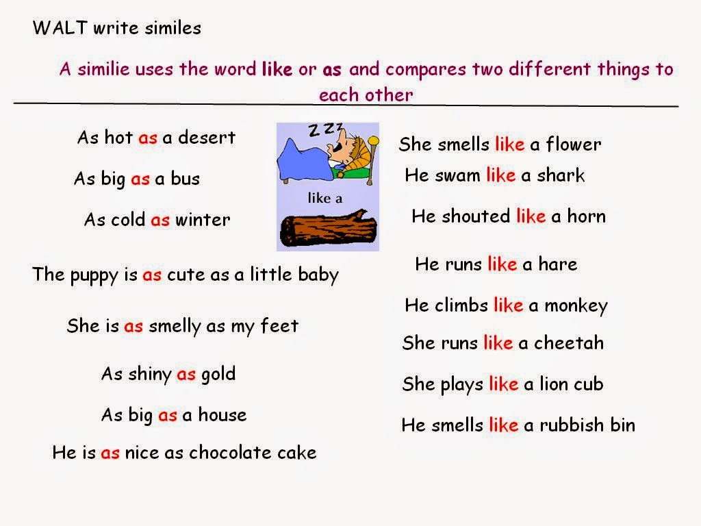 Simile Love Poems
