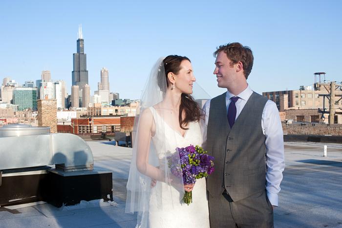 room 1520 roof wedding photos