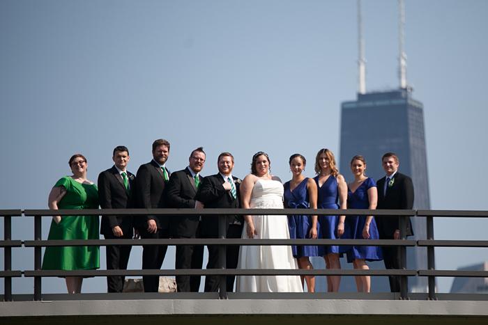 Lincoln Park Zoo Bridge Wedding Photo