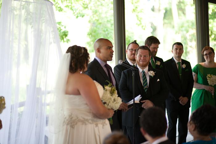 Outdoor Lincoln Park Zoo Wedding Ceremony