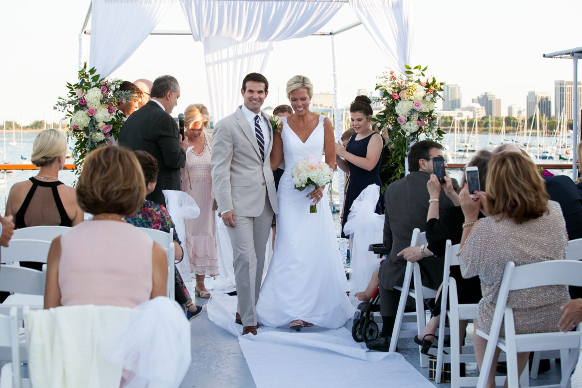 Wedding at the Columbia Yacht Club Dock