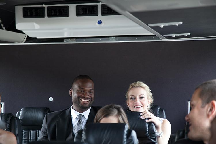 Chicago Wedding Party Bus Photos