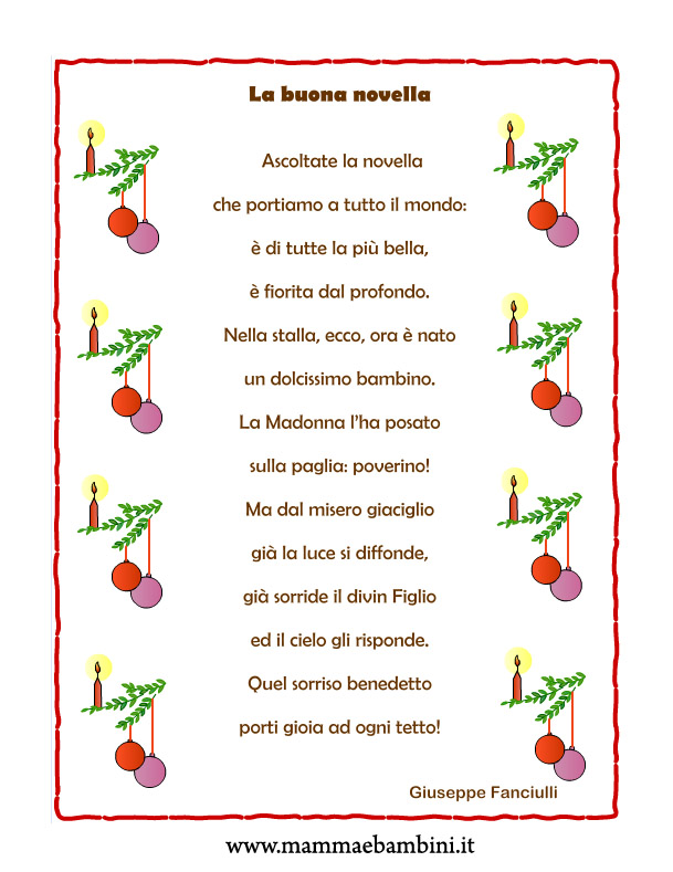 Le poesie non ti bastano? Poesie I Natale
