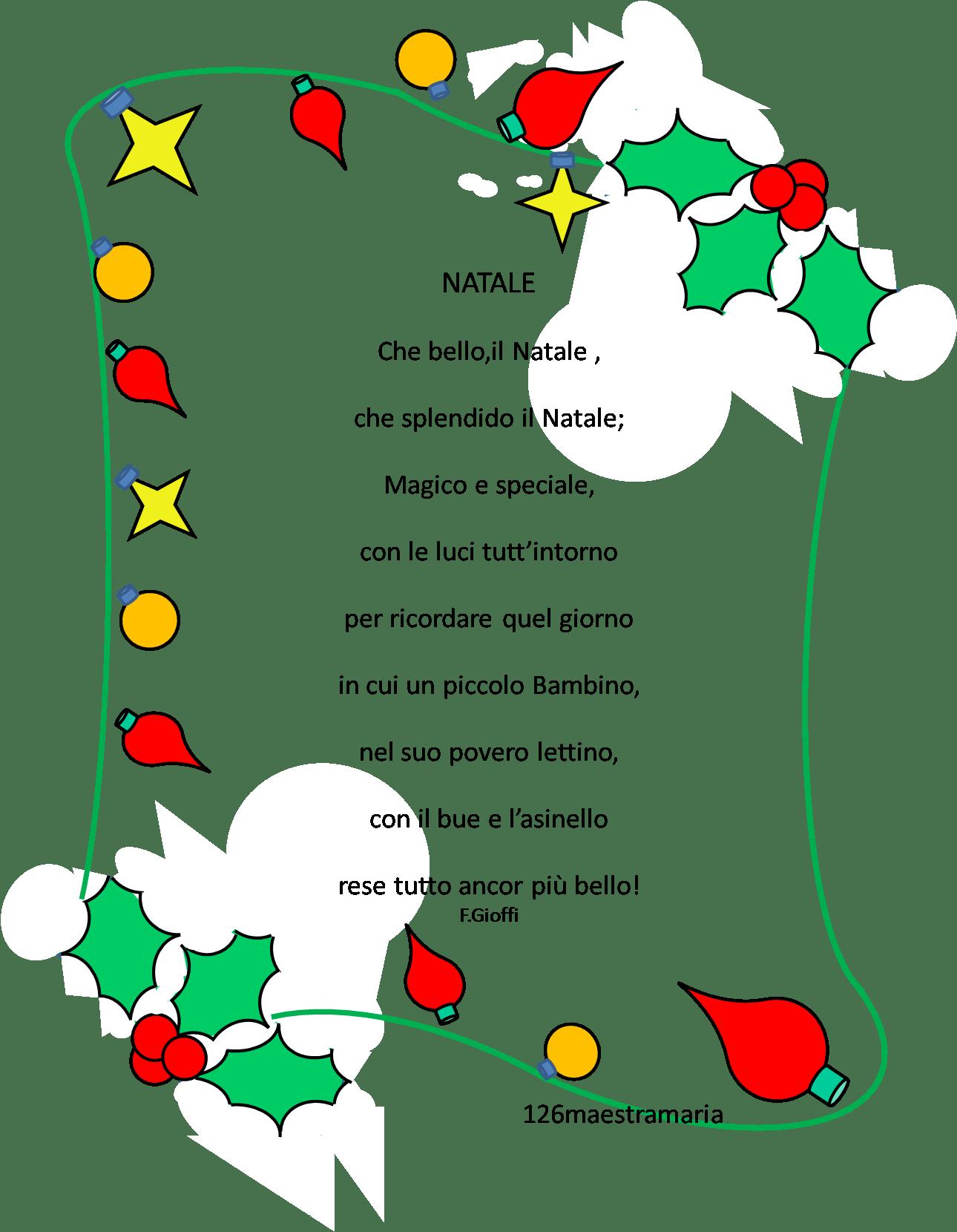 E un modo per imparare a conoscere gli autori. Poesie X Natale Bambini