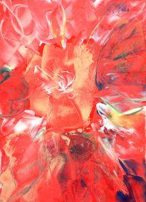 Natalie Dekel - Encaustic wax painting 4 (2009)