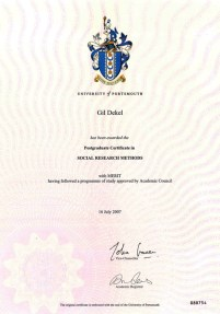 Gil Dekel - Social Research Methods, Portsmouth University