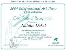 Natalie Dekel - Recognition Sister Kenny Art Show