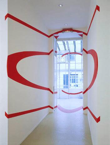 Felice Varini - Two Circles Corridor (OFFV)