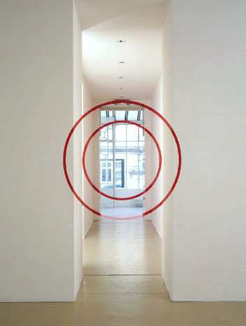 Felice Varini - Two Circles In Corridor