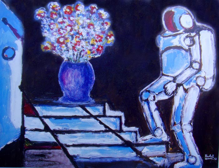 Paul Hartal - Robot with Flowers, 2003