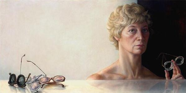 Brigid Marlin - Self portrait with glasses