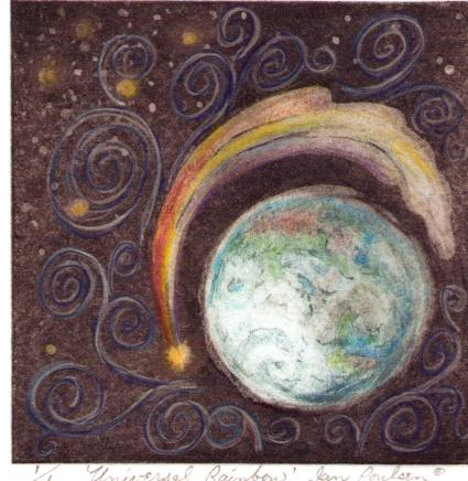 Jan Poulsen - Universal Rainbow,  The Global Art Project for Peace 2006.