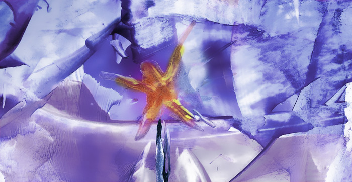 In Between - by Natalie and Gil Dekel (Encaustic Wax)