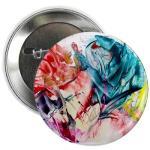 flower love - badeg (button)