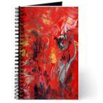 i-love angel and woman - encaustic wax journal