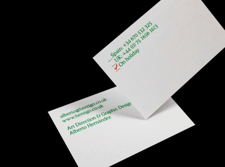 business card by Alberto Hernández