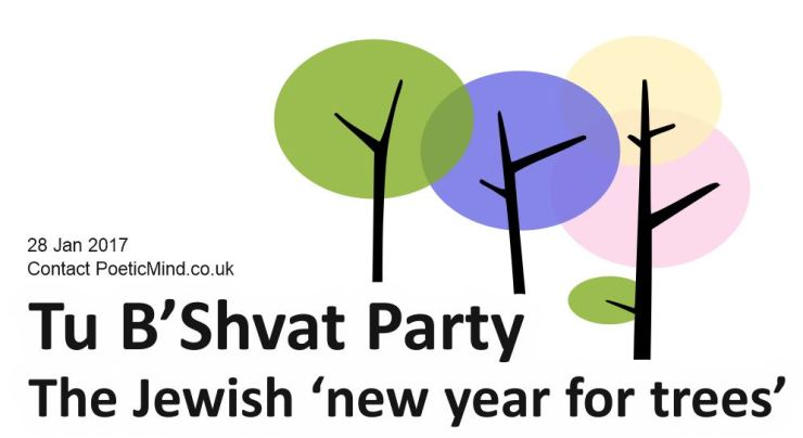 """Tu B'Shevat (Hebrew: ט״ו בשבט) is a Jewish holiday that marks the beginning of a 'new year' for trees, where trees start to grow fruits after the winter slumber. It is costume to eat fruits, especially the seven fruits of Israel which include pomegranates, dates, figs and grapes. The name 'Tu Bishvat' stands in Hebrew for the 15th day of the Jewish month of Shvat. The holiday is also called """"Rosh HaShanah La'Ilanot"""" (""""New Year of the Trees"""".)"""