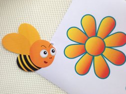 Rosh Hashana New Jewish Year Game. Flap the bees to the flowers to make honey. Download free template.
