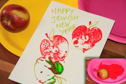 make cards usign sliced apple stamp.