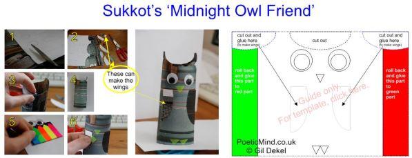 Sukkot Owl Template - Gil Dekel