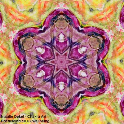 Chakra Art (#1) - by Natalie Dekel. Encaustic Wax technique.