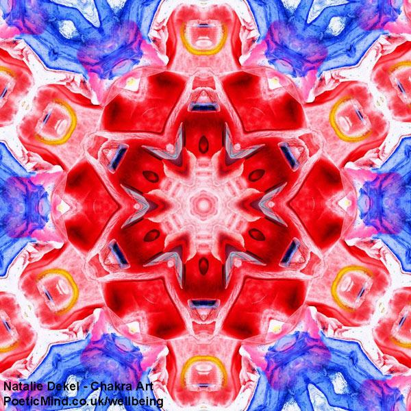 Chakra Art (#2) - by Natalie Dekel. Encaustic Wax technique.