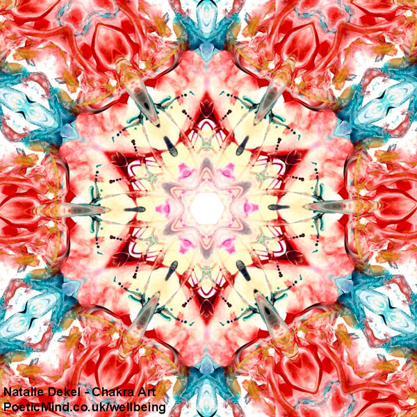 Chakra Art (#68) - by Natalie Dekel. Encaustic Wax technique.
