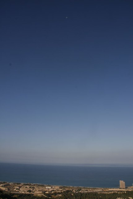 Blue Sky... Haifa, Israel. (Photo: Gil Dekel, 2015).