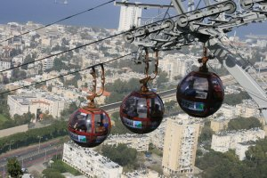 Haifa cable ride. Haifa, Israel. (Photo: Gil Dekel, 2019).