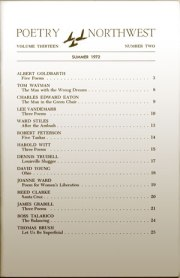 Poetry Northwest - Table of Contents - Summer 1972