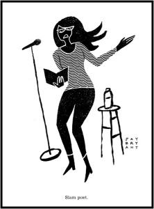 """""""Slam Poet"""" sketch by Jay Bryant"""