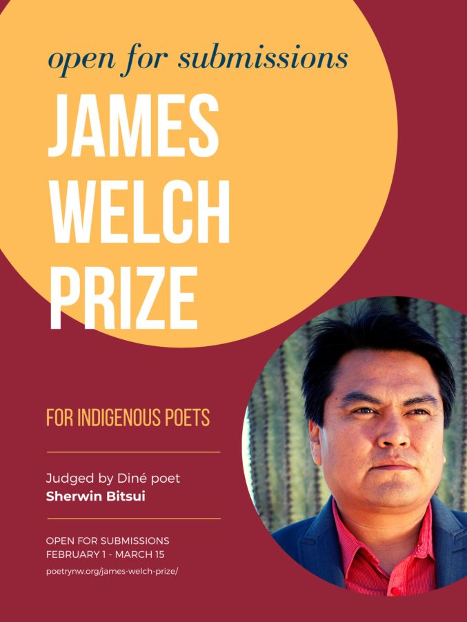 The 2020 James Welch Prize is open for submissions.