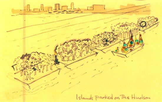 Gordon Matta-Clark, Islands Parked on the Hudson, 1970–71. Courtesy David Zwirner Gallery