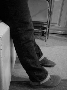 Stacy Szymaszek's feet (c) Greg Fuchs, 2011