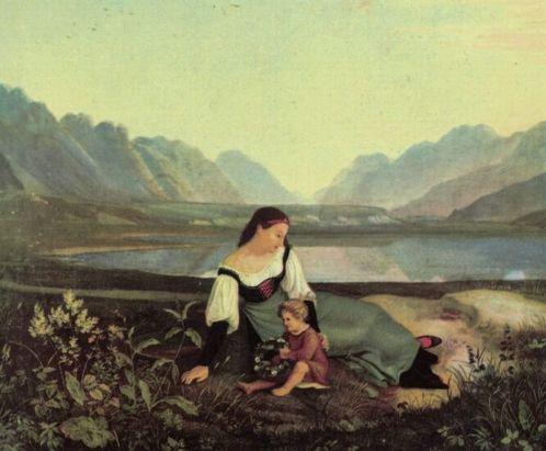 adrian_ludwig_richtermadchen-auf-der-wiese1823a